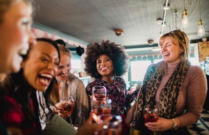 Social Gathering at Bar