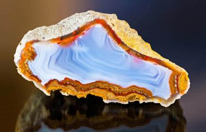 Polished agate cross section