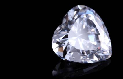 Heart Shape White Sapphire