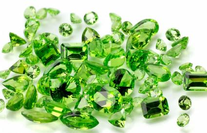 Pile of Peridot or Chysolite