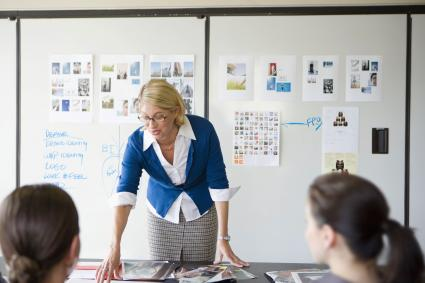 Branding Consultant giving presentation