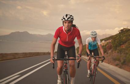 Professional female cyclists