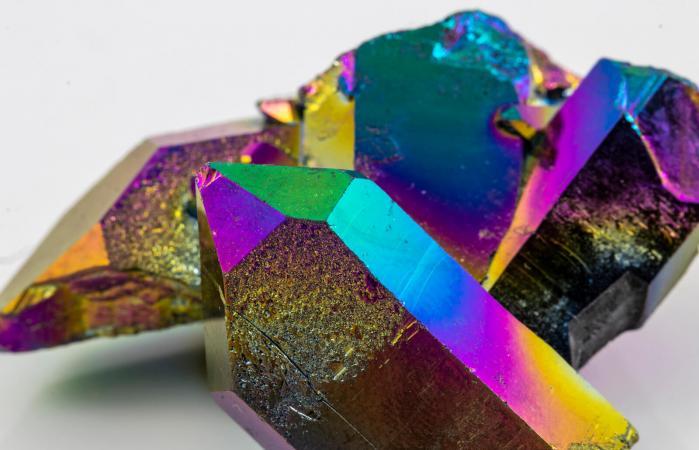 Titanium Aura Crystal Piece