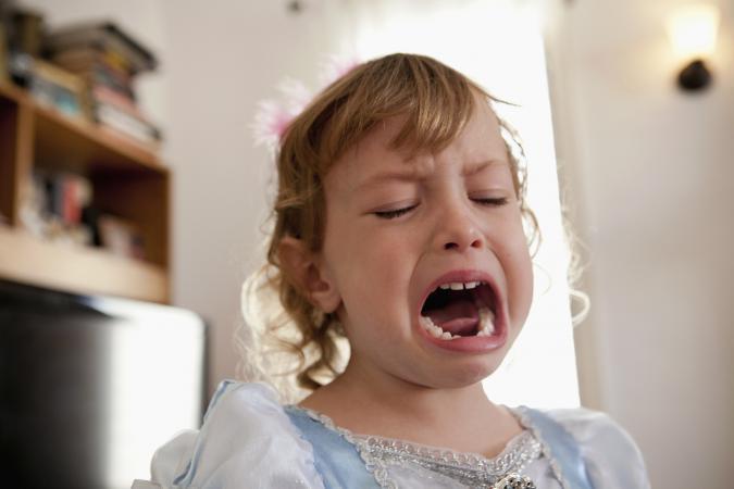 Female toddler crying