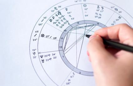 man creating natal chart