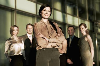 Business woman and colleagues