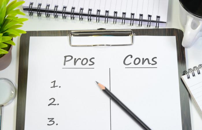 Pros and cons text