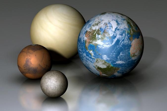 Terrestrial Planets Compared: Earth, Venus, Mars and Mercury