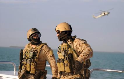 SEALS aboard a boat