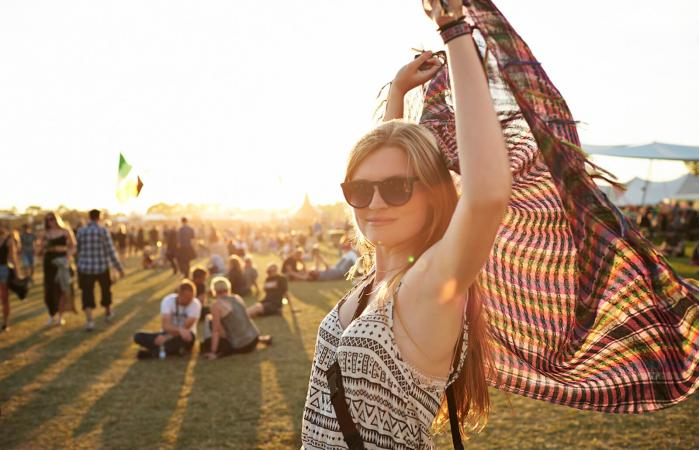 woman enjoying a fun festival