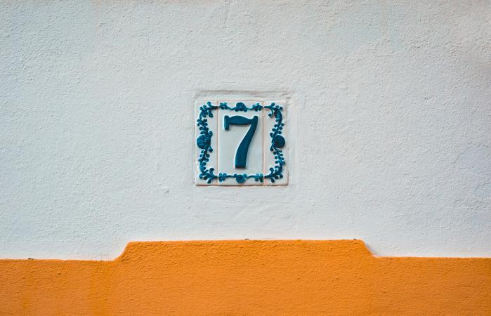 the numeral 7