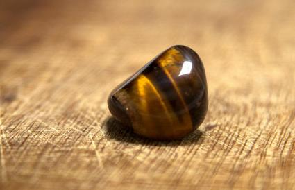 Yellow tigers eye stone