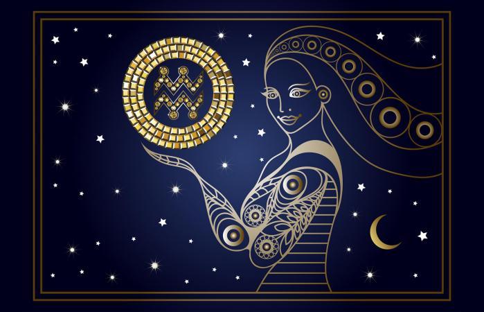 zodiac sign Aquarius symbols