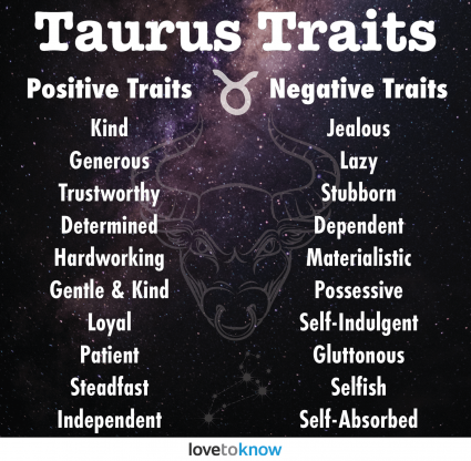 Taurus positive and negative traits