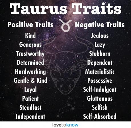 Taurus positive and negative traits