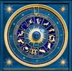 Blue zodiac wheel
