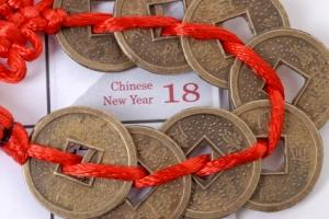 The calendar and coins of Chinese astrology.