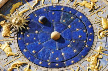 Venice clock depicting astrological features