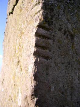The ancient Ogham stone.