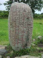 Ancient rune stone in Sweden.