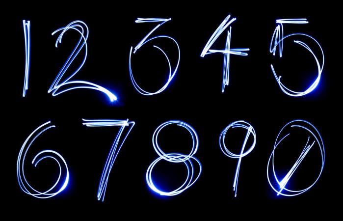 Numeros en neon