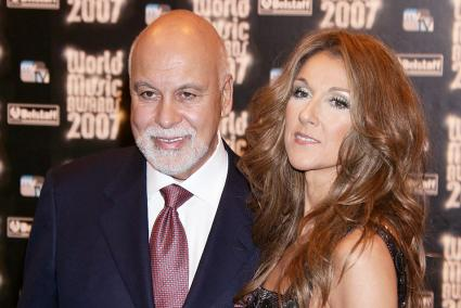 Celine Dion with her husband Rene Angelil at the World Music Awards 2007