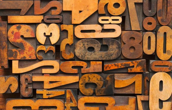 Tipografía con números