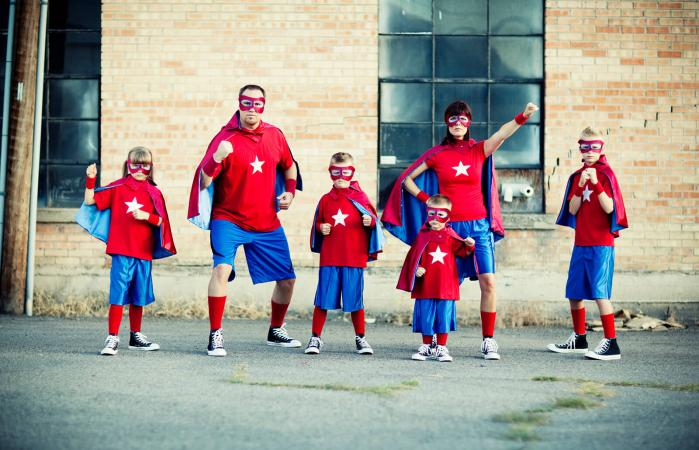 Familia de superheroes