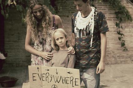 Familia Hippie Joven