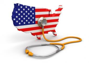 USA image with stethoscope