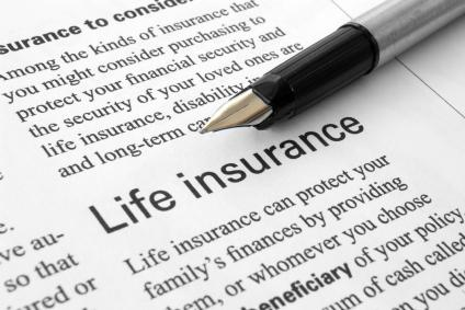 Beneficiary section of life insurance policy