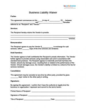 Release Of Liability Form Waiver Template Sample Free Have A Few Images  Related Each Other  Basic Liability Waiver Form