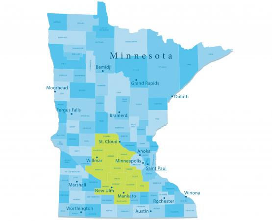 Young America Minnesota service map