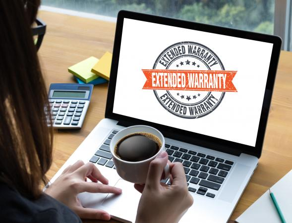 Woman searching extended waranty plan