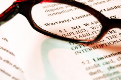 Eye glasses on a warranty