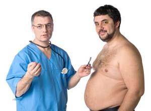 Doctor and Overweight Man