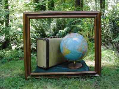 Suitcase and Globe