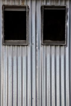 Corrugated garage doors