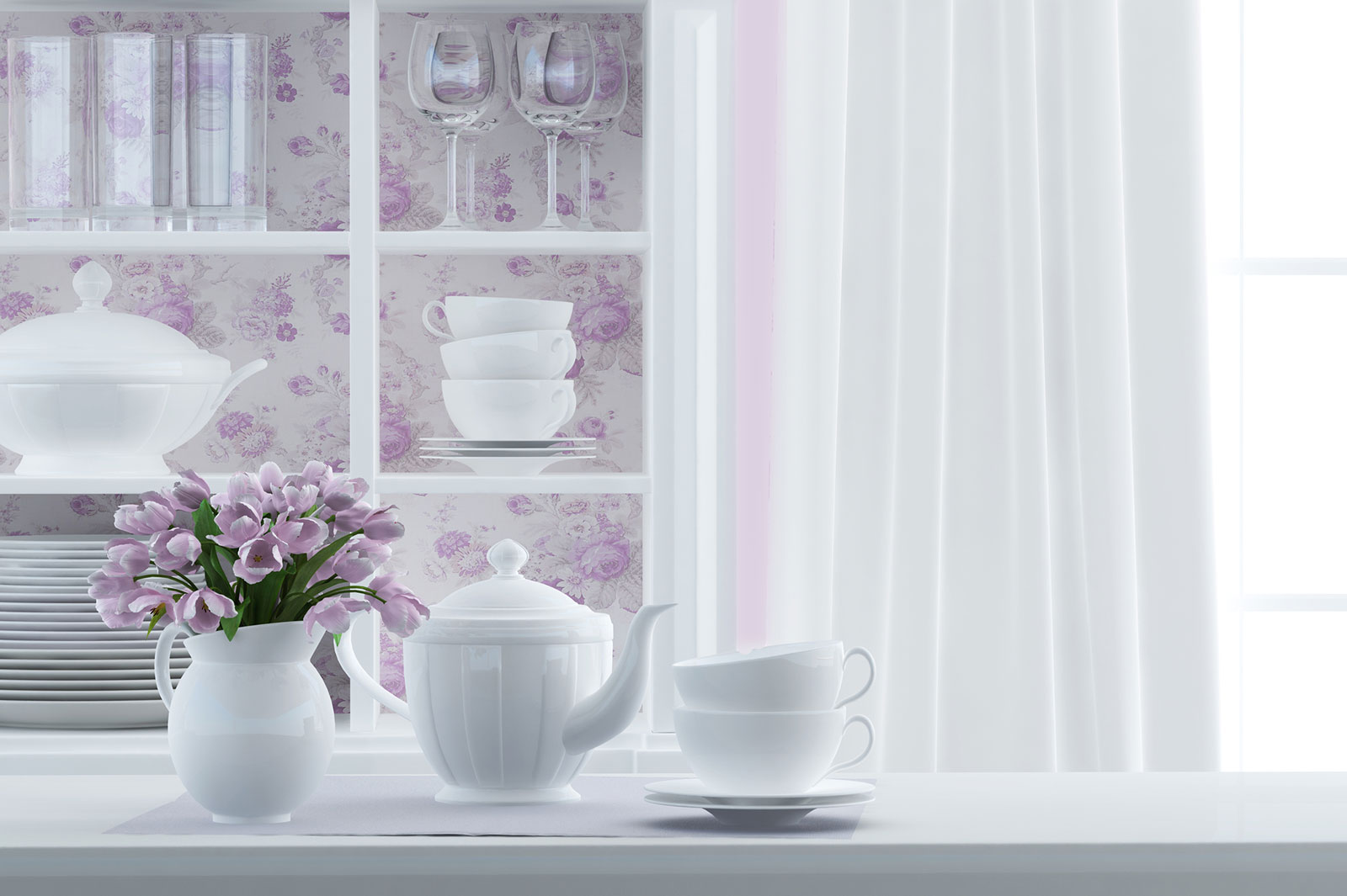 Self-adhesive Vinyl Skin Sticker Plain Pink Glossy Decorative Design for Single Light Cover