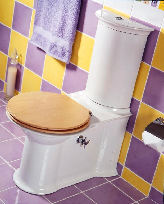 Purple And Yellow Bathroom