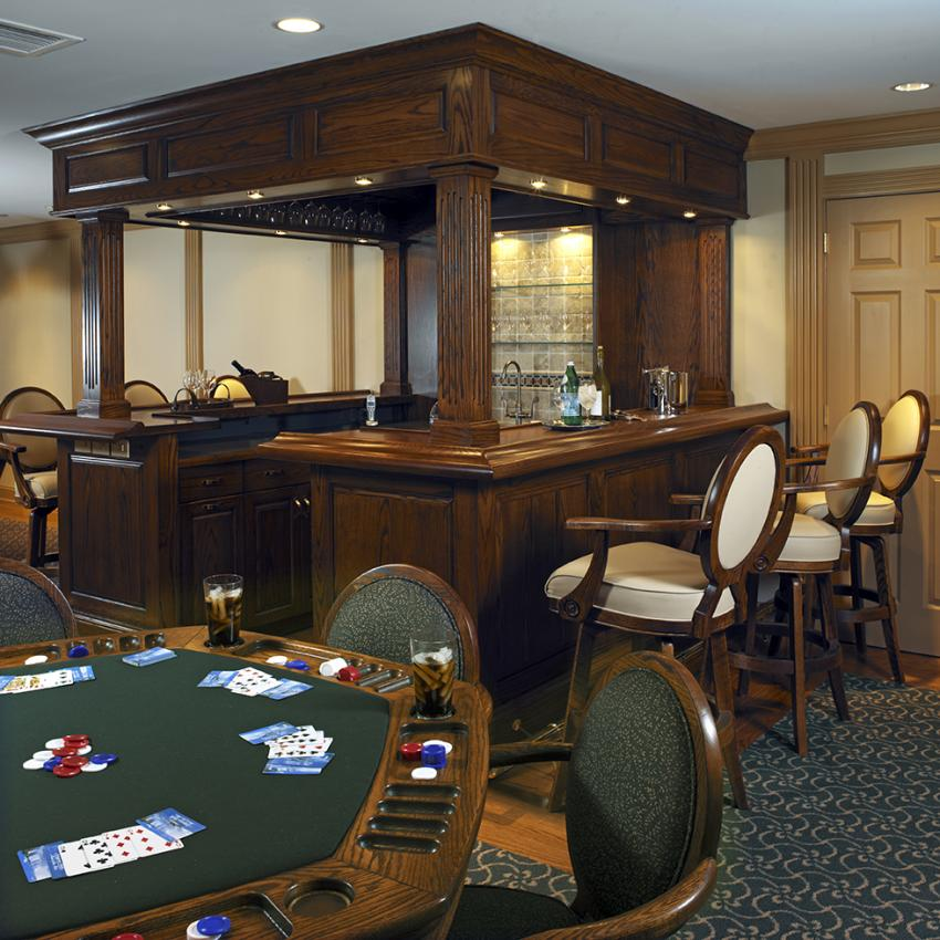 Poker Table And Home Bar