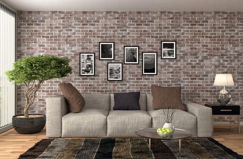 Removable Faux Accent Brick Wall