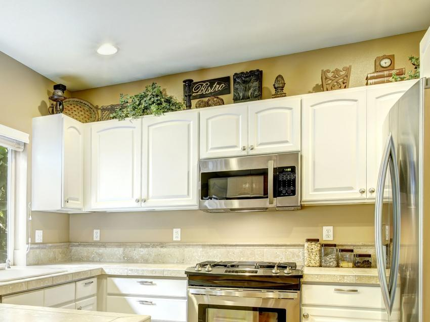 Decorative Items With Distressed Finishes Source · Behr Kitchen Design  Source · Canisters Above Cabinets Home Design Ideas