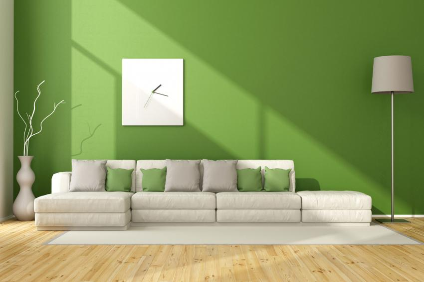 Interior Paint Color Combinations. 2/15. Green Living Room