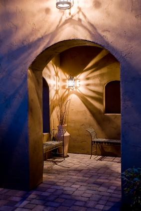 Mexican style arched doorway