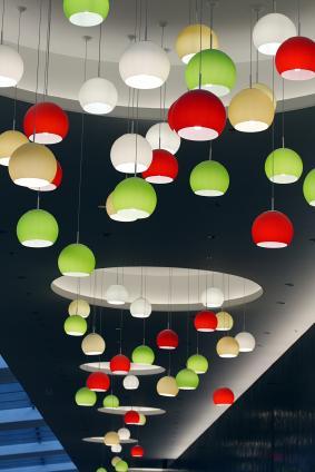 multicolor pendant lights