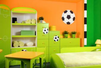 Soccer themed bedroom