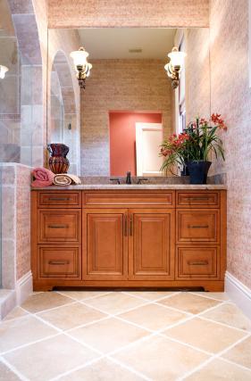 diagonal bathroom floor tiles