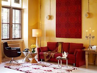 Spanish inspired living space