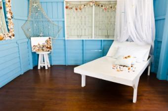 blue beach bedroom
